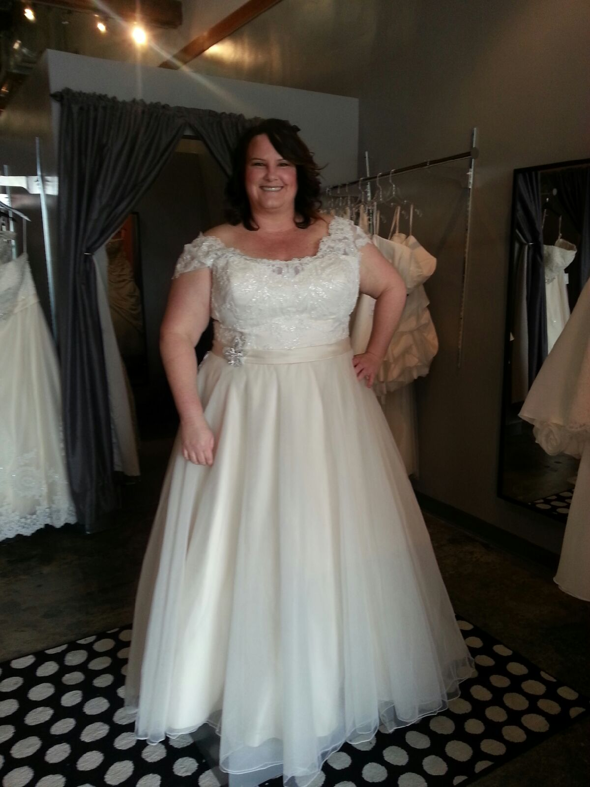 New Dress: Plus Size Wedding Dress with Straps
