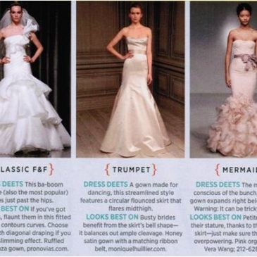 FAQ: What's the Difference Between a Fit and Flare, Trumpet and Mermaid Wedding Dress?