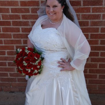 Strut Bride Heather T. in A-line Wedding Dress