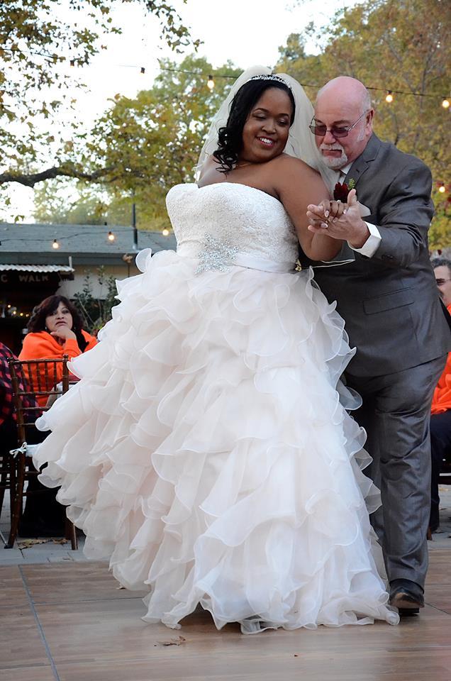 Krishunda S Ruffle Ballgown Wedding Dress Rustic Venue