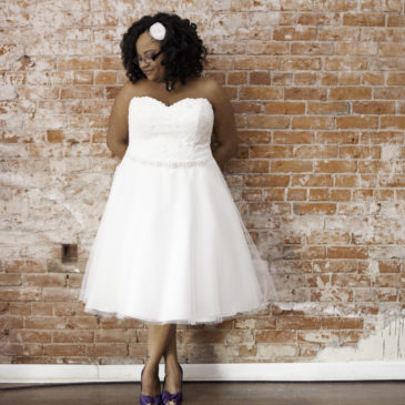 Tiffany's Tea Length Wedding Dress