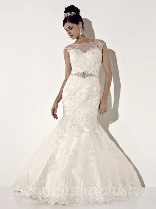 3 Plus Size Illusion Neckline Fitted Lace Wedding Dresses We Love ...