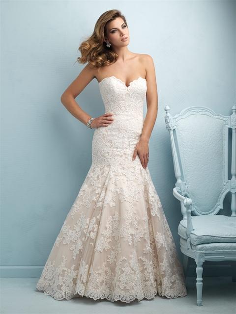NEW DRESS ALERT: Champagne Lace Wedding Dress - Strut Bridal Salon