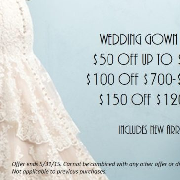 Wedding Dress Sale – Save Up to $150