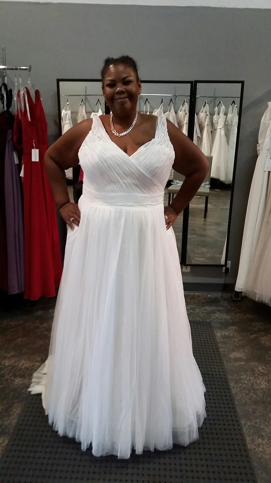 New Dress Alert Plus Size V Neck A Line Wedding Gown Strut Bridal