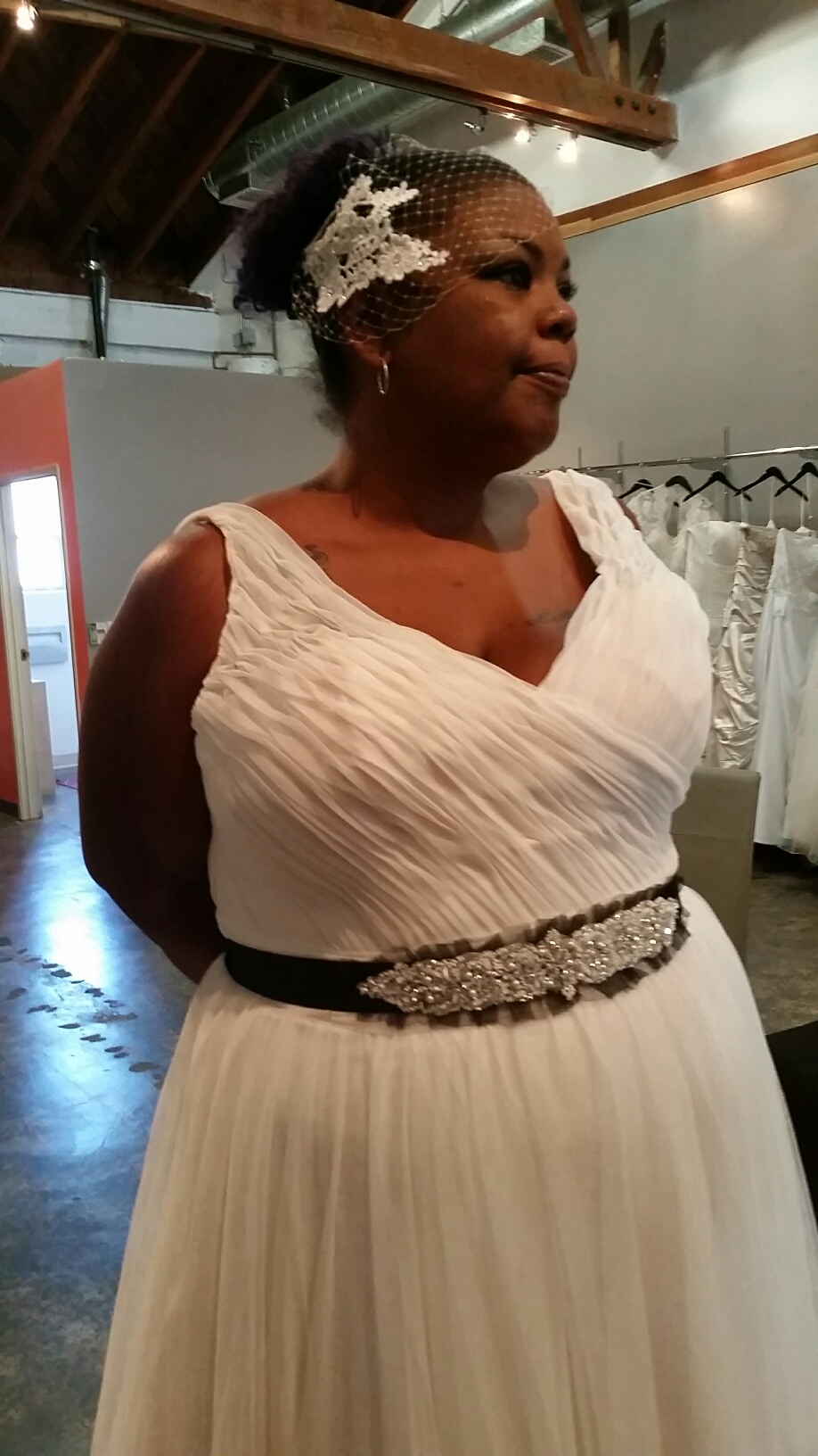 New Dress Alert Plus Size V Neck A Line Wedding Gown
