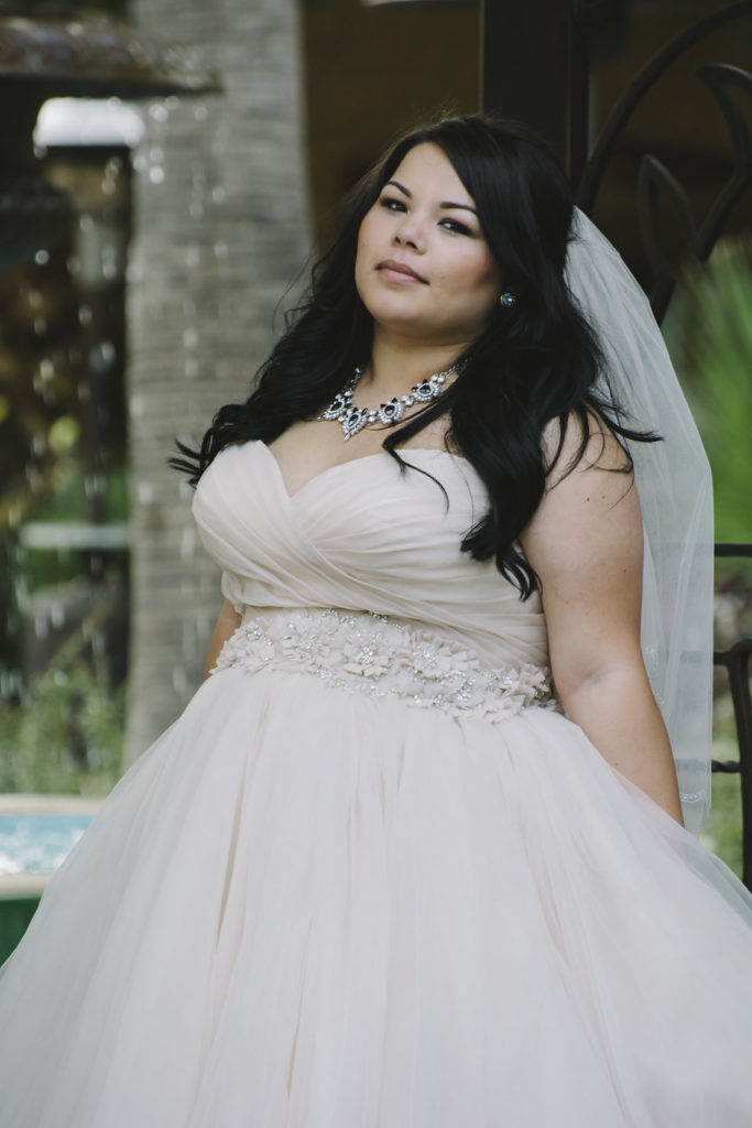 c02c1ee083 Clarissa in a Champagne Ball Gown Wedding Dress - Strut Bridal Salon