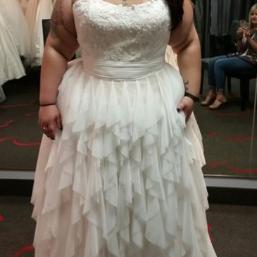 NEW DRESS ALERT: Plus Size Wedding Dress with Layered Skirt