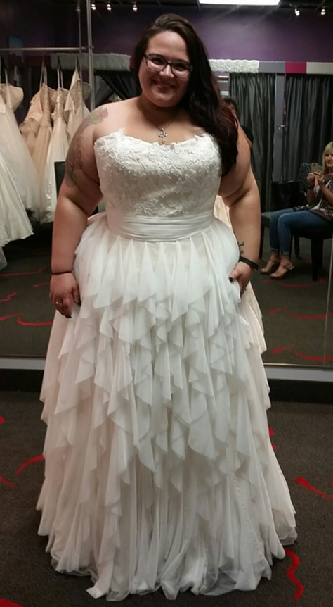 New dress alert plus size wedding dress with layered for Plus size after wedding dress