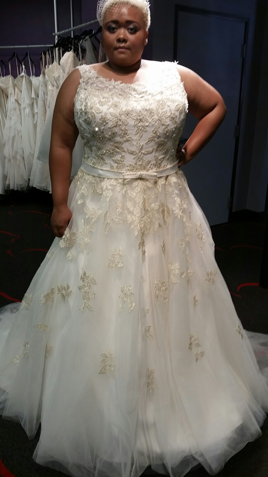 Gold Plus Size Wedding Dress