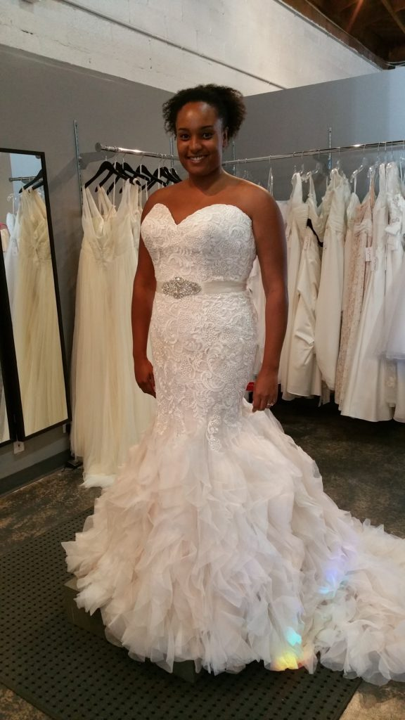 Mermaid Lace Ruffle Wedding Dress - Allure 9254 - Strut Bridal Salon