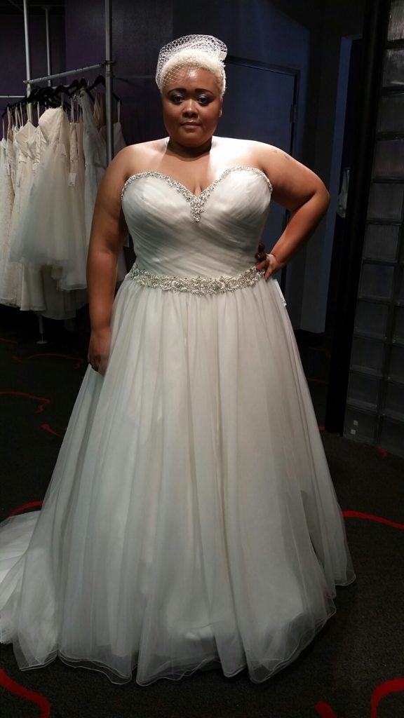 NEW platinum tulle ball gown wedding dress