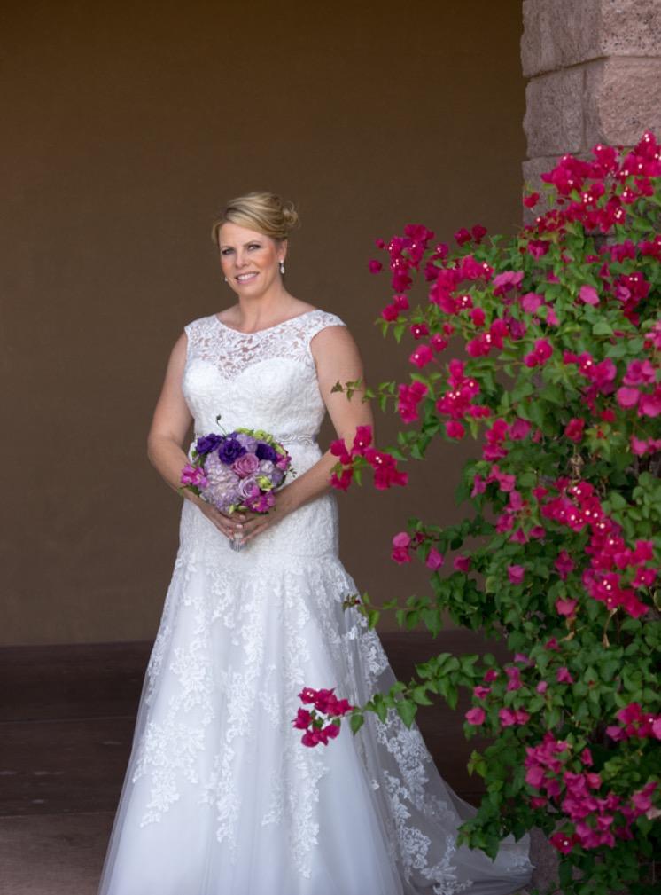 Jen\'s Lace Trumpet Wedding Gown with Illusion Neckline - Strut ...
