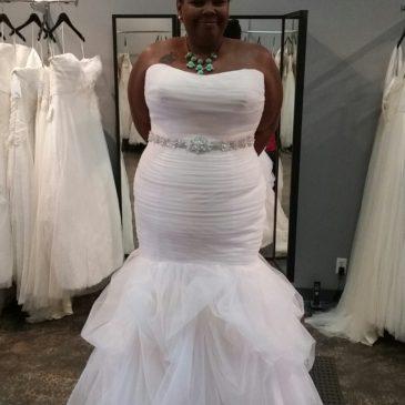 NEW DRESS ALERT: Pink Organza Trumpet Wedding Gown