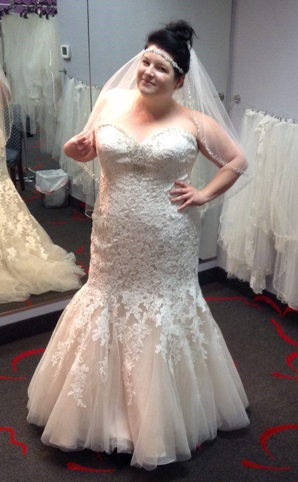 NEW DRESS ALERT: Plus Size Lace Mermaid Bridal Gown with Bling ...