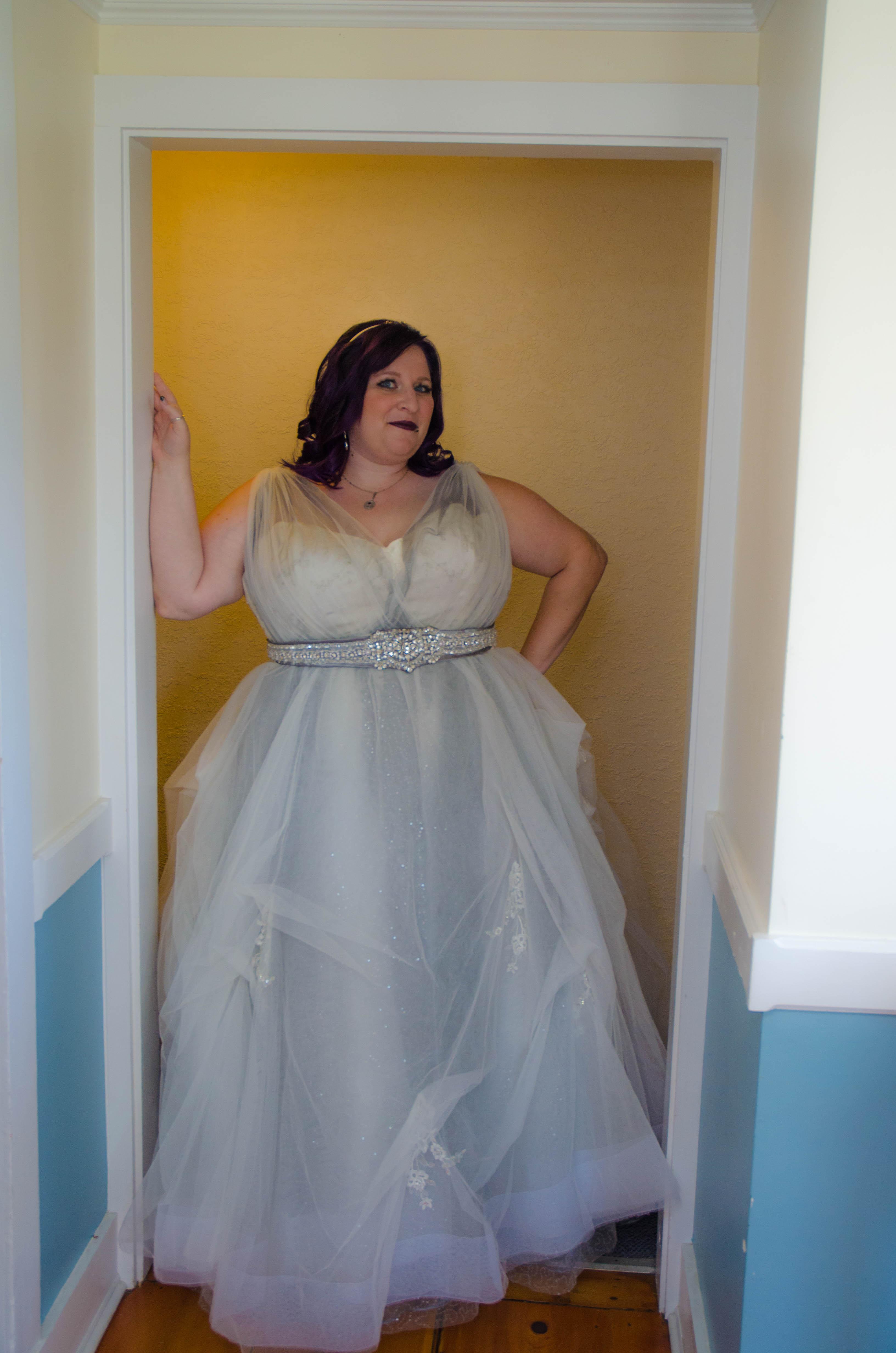 Melissa\'s Steampunk Goth Victorian Wedding Dress - Strut Bridal Salon