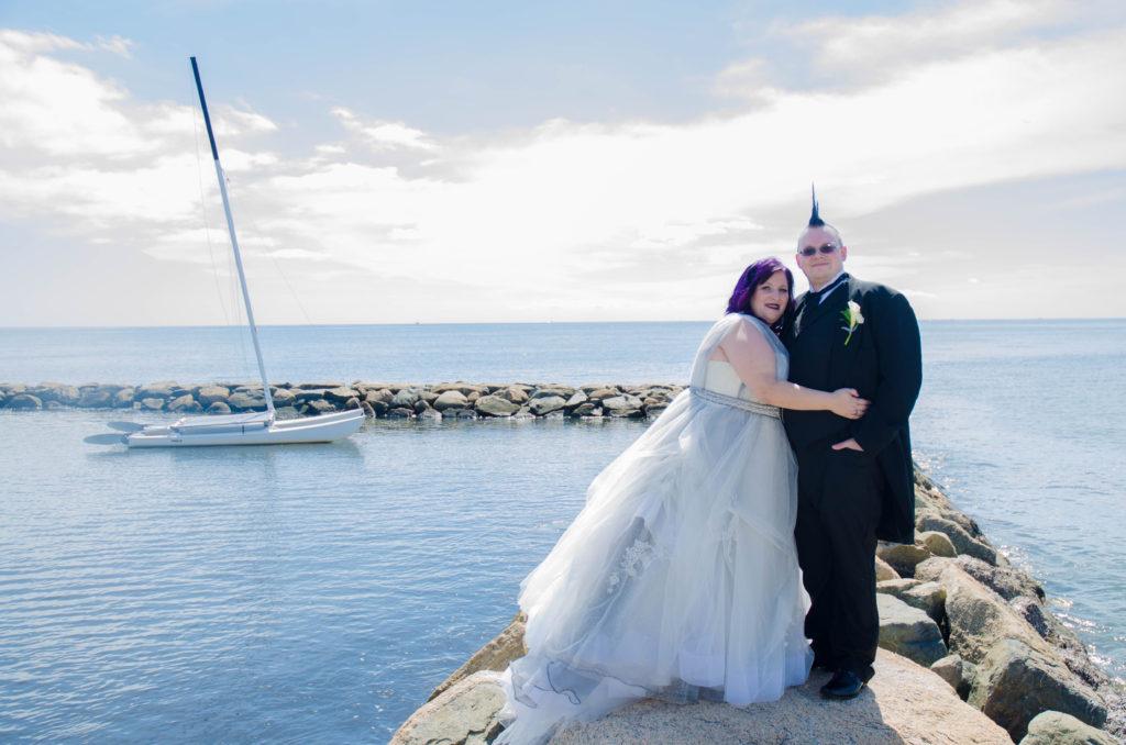 Melissa S Steampunk Goth Victorian Wedding Dress Strut