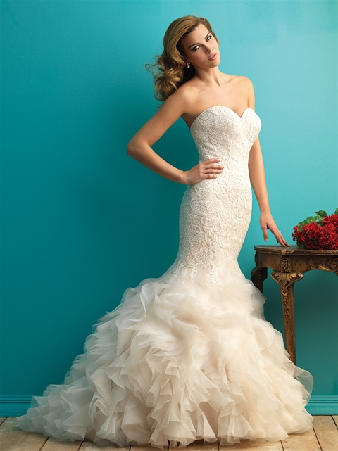 3 of our favorite plus size wedding dresses with ruffles for Mermaid wedding dress with ruffles