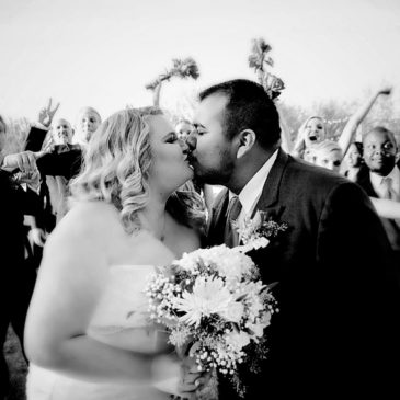 Breanna's Ruffled Trumpet Wedding Gown