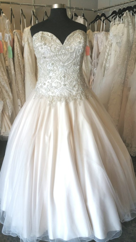 New champagne ball gown wedding dress strut bridal salon for Champagne ball gown wedding dresses