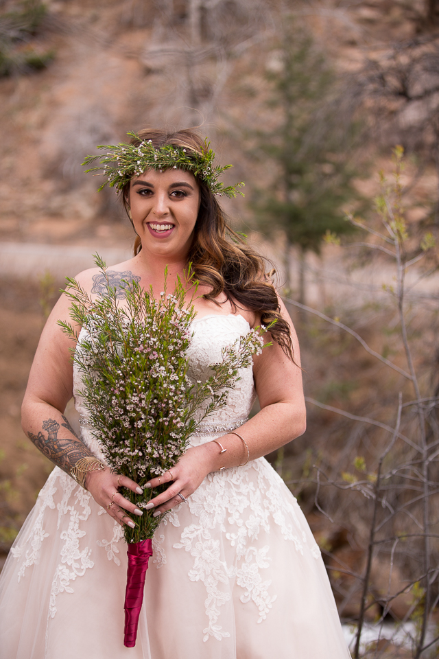 Michaelas Woodland Elopement Strut Bridal Salon