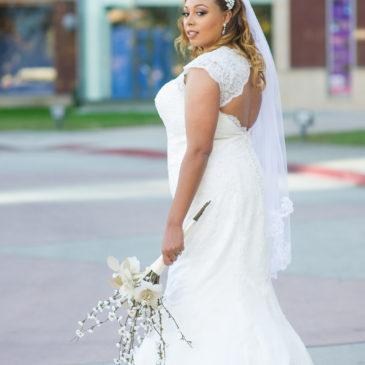 Charmaine's Lace Keyhole Back Wedding Dress