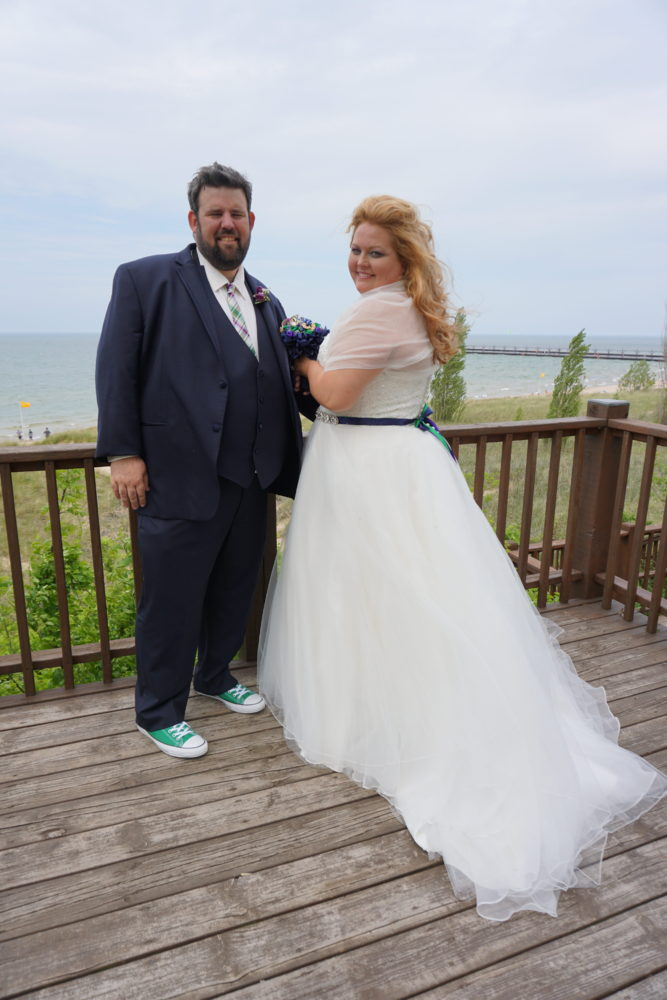 Erikca Plus Size Wedding On Lake Michigan Strut Bridal Salon