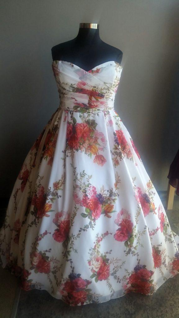 New Floral Chiffon Wedding Dress Strut Bridal Salon