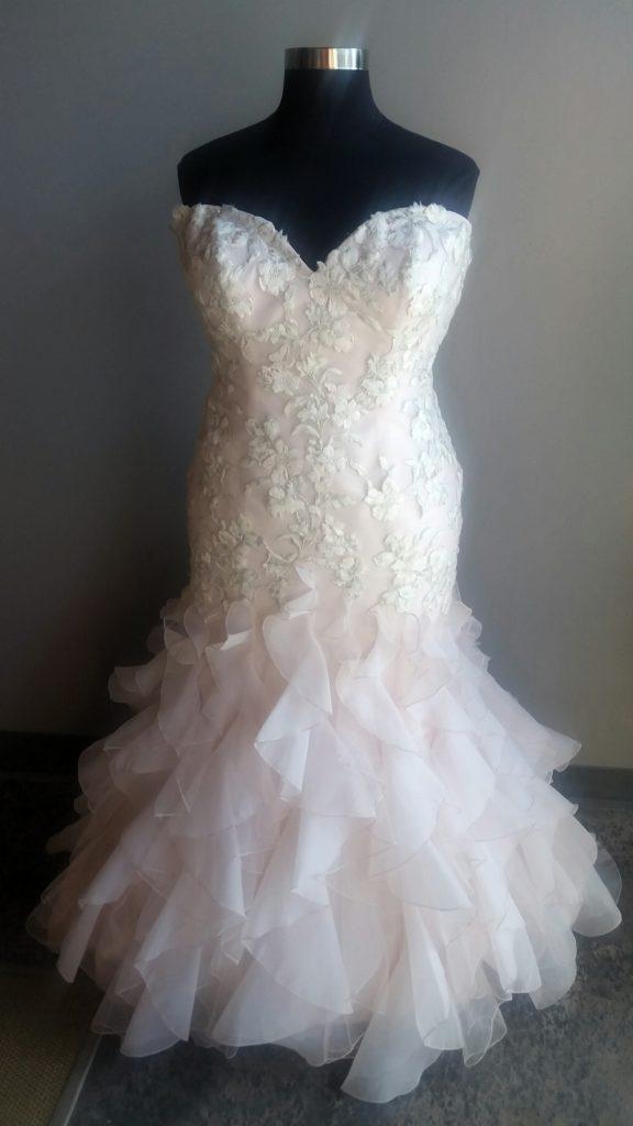 New Pink Wedding Dress With Ruffles Strut Bridal Salon