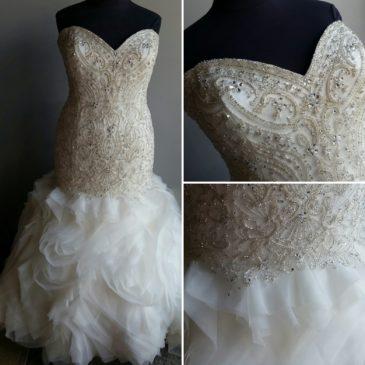 NEW Super Blingy Mermaid Wedding Dress With Ruffles