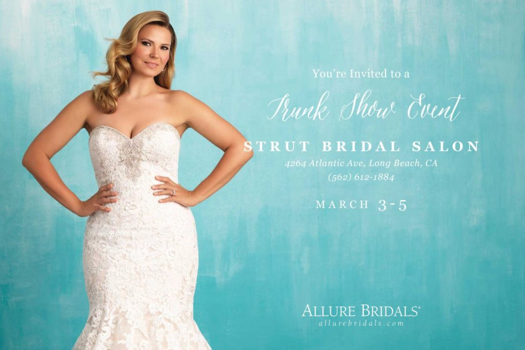The Plus Size Wedding Dress Trunk Show Will First Be Held In Our Long Beach Store Los Angeles San Diego Inland Empire Brides And Ladies From Valley