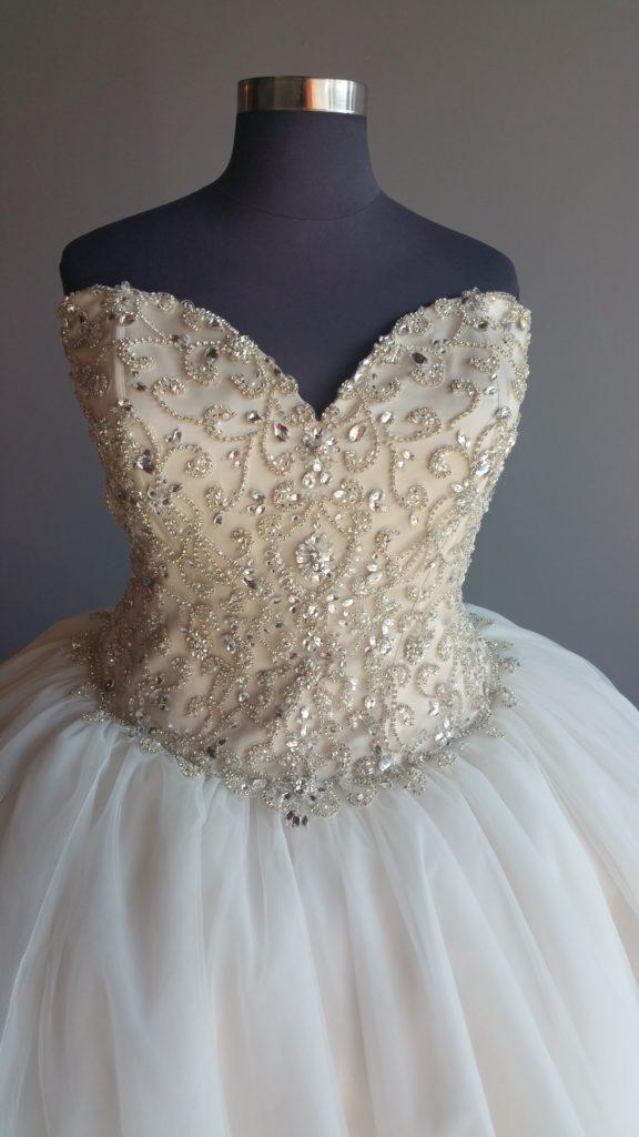 NEW: Super Bling Ballgown Wedding Dress - Strut Bridal Salon