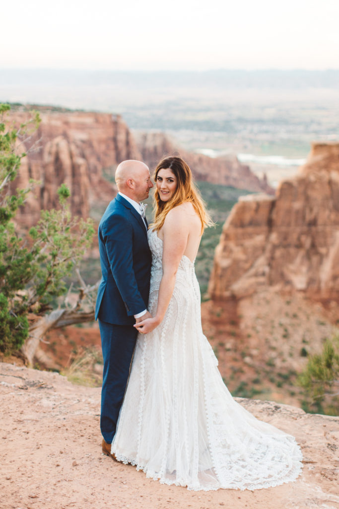 Brittanys bohemian lace wedding gown strut bridal salon for Wedding dresses grand junction co