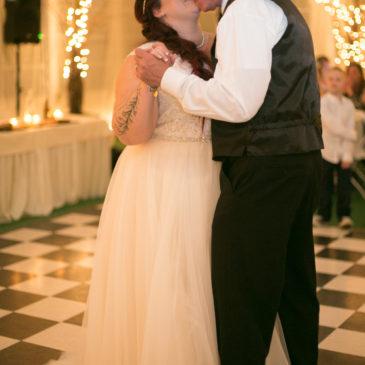 Beth's Lace Top Aline Wedding Dress