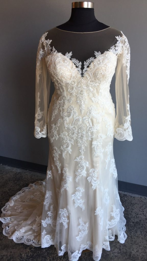 New Plus Size Long Sleeve Lace Wedding Gown Strut Bridal Salon
