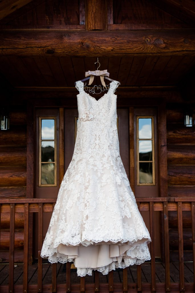 Dallas S Wedding Dress Was A Strapless Two Tone Lace Trumpet Gown It Ivory Over Light Champagne Lining Added Cap Sleeves And Small