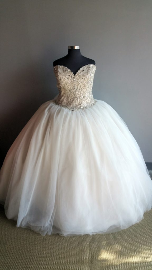 For Our Princess Brides We Have The Most Amazing New Arrival In Long Beach Store This Absolutely Incredible Super Bling Ballgown Wedding Dress