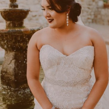Two Tone Wedding Gown Sonias At San Juan Capistrano Mission