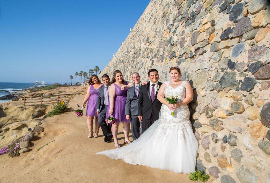 Wedding Gowns With Bling: Tiffany's Beach-Side La Jolla Wedding