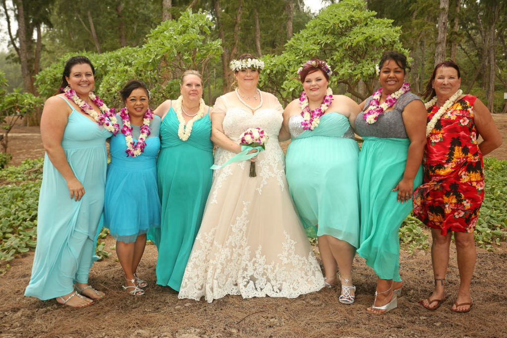 Jennifer\'s Hawaiian Luau Beach Wedding - Strut Bridal Salon