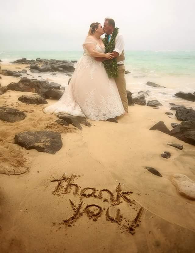 Jennifer\'s Hawaiian Luau Beach Wedding - Strut Bridal Salon