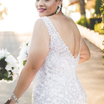 Bethany's Blingy Allure Mermaid Wedding Dress