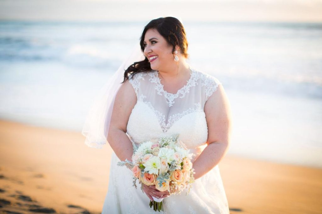 Kristy\'s Perfect Beach Wedding on Imperial Beach - Strut Bridal Salon