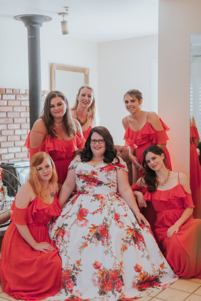 Megan Looked So Beautiful In This Unique Fl Wedding Dress We Re Grateful She Shared Her Photos With Us And Was The First To Wear Gown