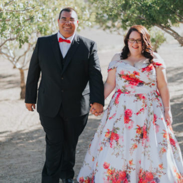 Megan's Unique Floral Wedding Dress