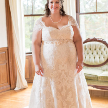 Emily's Lacy Plus Size A-line Wedding Dress