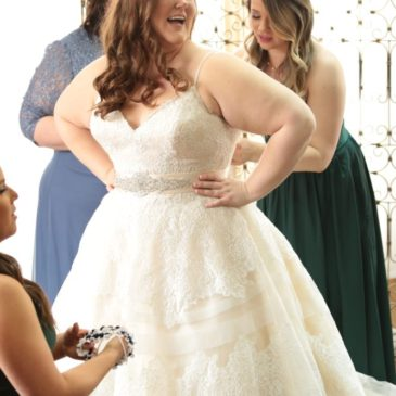 Jacque's Lace and Horsehair Wedding Dress