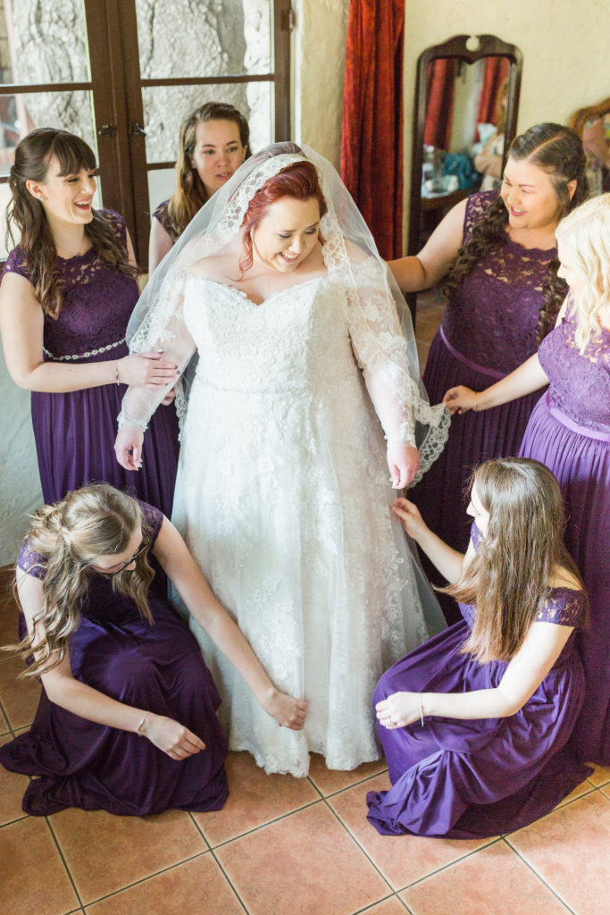 Plus size bridal party