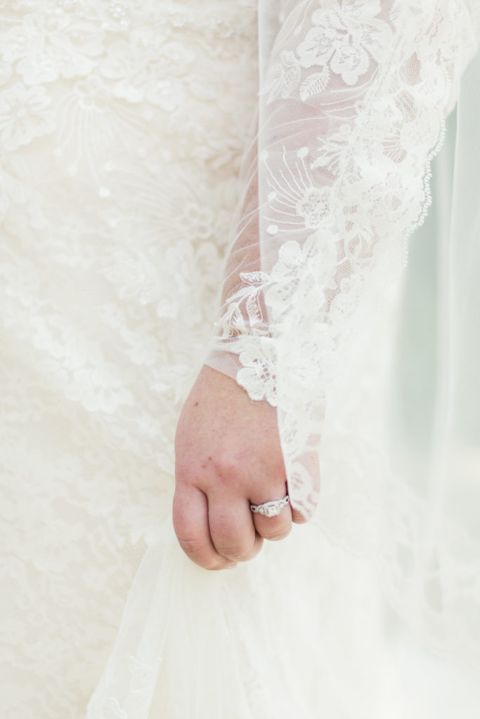 custom plus size lace wedding dress with sleeves