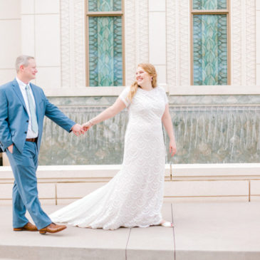 Jina's Modest Textured Lace Wedding Dress